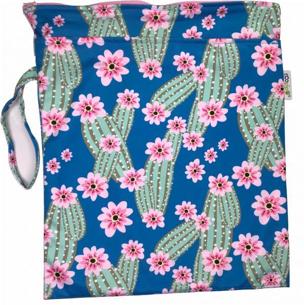 Bolsa Impermeable Chica Estampada Cactus