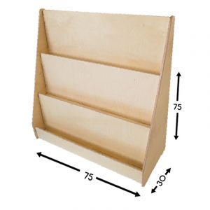 Revistero o librero montessori - Borucas y Garabatos