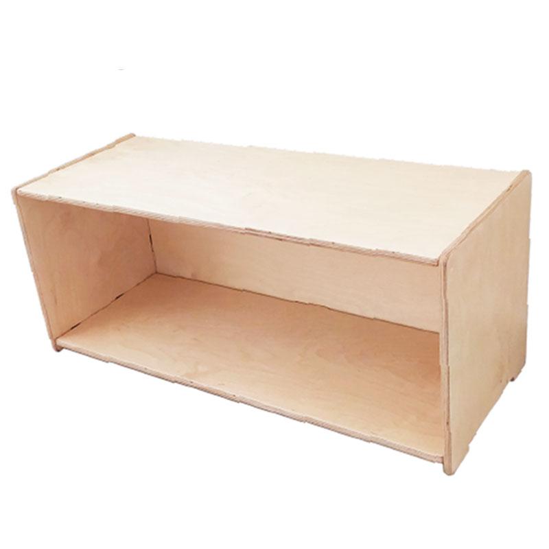 Repisa de madera montessori - Borucas y Garabatos