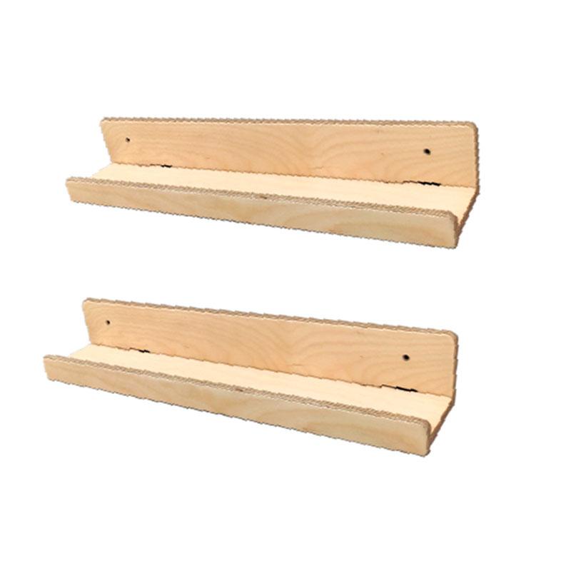 Repisas de madera montessori para pared - Borucas y Garabatos