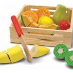 fruta cortar de madera melissa & doug